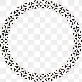 Hand Painted Black Circle - Paper Circle Pattern PNG