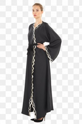 Dress - Dress Gown Neck Black M PNG