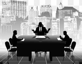 Cartoon Business People Meeting - Office Business PNG