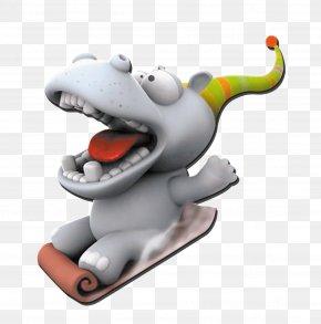 Cartoon Rhino - 3D Computer Graphics Humour Cartoon Animal Wallpaper PNG