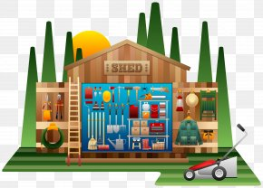 Shed Cliparts - Shed Garden Tool Clip Art PNG