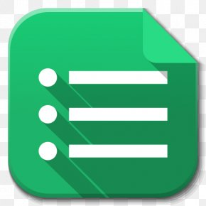 Apps Google Drive Forms - Angle Symbol Green PNG