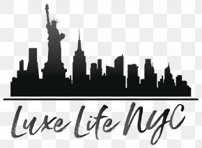 New York City - New York City Skyline Watercolor Painting Silhouette PNG