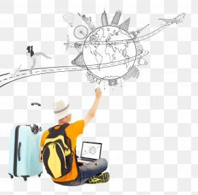 Traveler With Suitcase Buckle Clip Free HD - Travel Drawing Stock Photography PNG