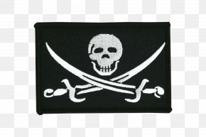 Pirate Flag - Jolly Roger Piracy Flag Clip Art PNG