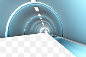 Fantastic Science Fiction Tunnel Road - Stock Photography Royalty-free Illustration PNG
