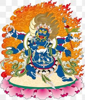 Tibetan Buddhism Figure Weide King Kong Vector - Yamantaka Wisdom King Marici Thangka PNG