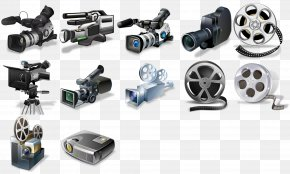 Video Equipment Set Up - Photographic Film Video Camera Icon PNG