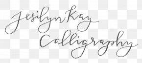 Calligraphy Work - Jesilyn Kay Calligraphy Handwriting Logo Font PNG