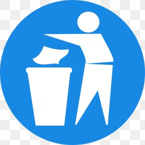 Trash Can Sign - Royalty-free Clip Art PNG