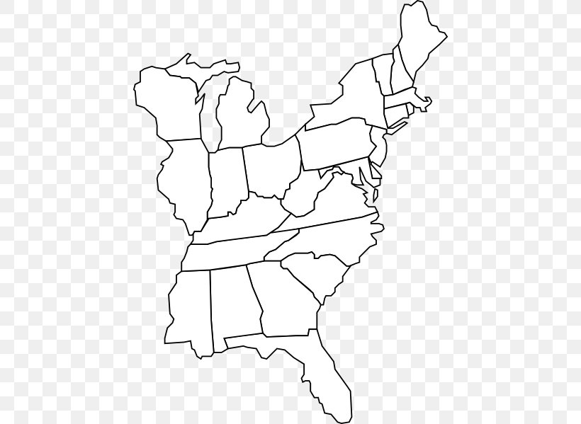 United States Blank Map World Map Geography, PNG, 444x599px ...