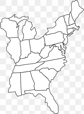 East Coast Of The United States - United States Blank Map World Map Geography PNG
