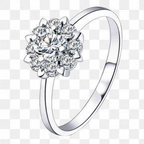 Jewelry - Engagement Ring Jewellery Cubic Zirconia Wedding Ring PNG