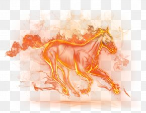 Beautiful Fire Horse Clipart Picture - Horse Fire Clip Art PNG