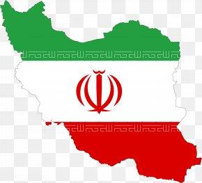 Iran - Flag Of Iran Map National Flag PNG