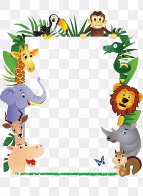 Animal Picture Frames - Animal Monkey Clip Art PNG