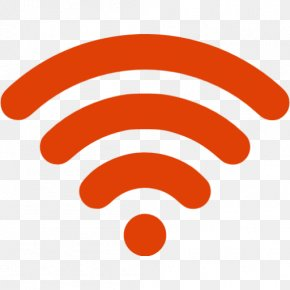 Orange Wireless Icon - Wi-Fi Wireless Network Hotspot PNG