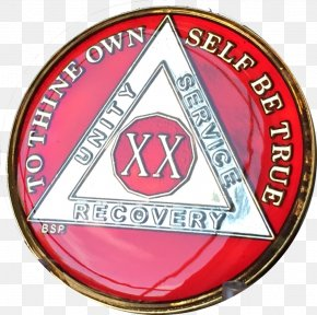 Gold - Alcoholics Anonymous Sobriety Coin Gold Serenity Prayer PNG