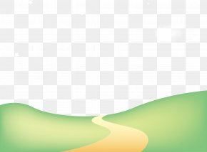 Vector Spring Road - Green Pattern PNG