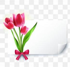 Tulips Decorative Blank Paper - Greeting Card Wedding Invitation YouTube E-card PNG