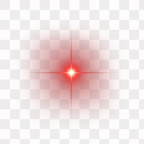 Red Shine Light Effect Element - Light Line Angle Point Red PNG