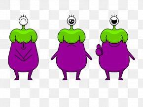 Eggplant - Mascot Cartoon Dog Illustration PNG