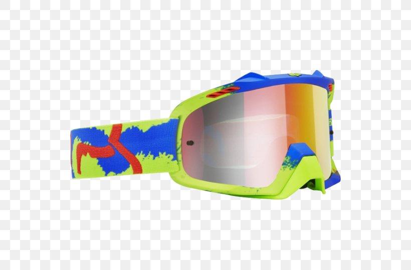 Goggles MX Vs. ATV Alive Motocross Glasses Fox Racing, PNG, 540x540px, Goggles, Allterrain Vehicle, Antifog, Electric Blue, Eyewear Download Free