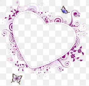 Watercolor Border - Picture Frames Purple Heart Clip Art PNG