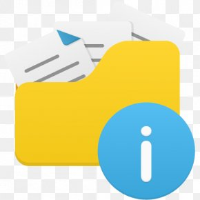 Open Folder Info - Angle Brand Material Yellow PNG
