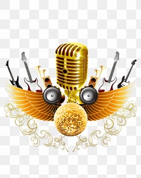Golden Microphone - Microphone PNG