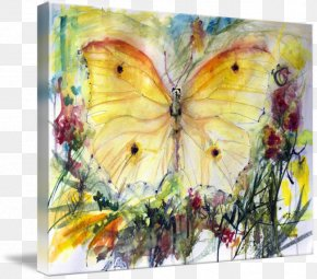 Butterfly Watercolor - Oil Painting Reproduction Butterfly Watercolor Painting Fine Art PNG