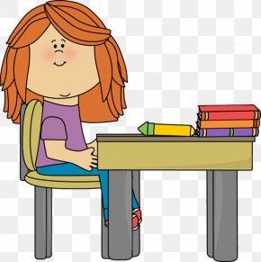 Classroom Desk Cliparts - Student Table Organization Clip Art PNG