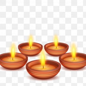 Vector Lotus Lantern Festival - Candle Light Flame PNG