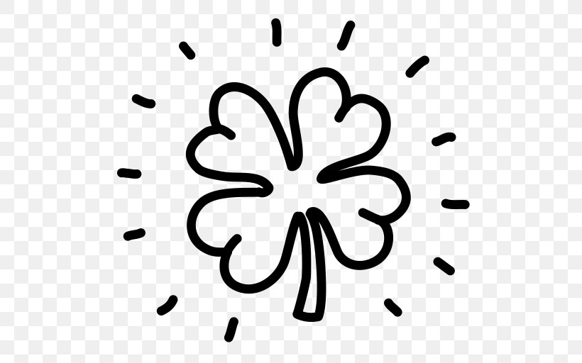 Republic Of Ireland Shamrock Saint Patrick's Day Clover Clip Art, PNG, 512x512px, Republic Of Ireland, Artwork, Black And White, Clover, Flower Download Free