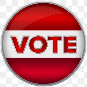 Vote Red Badge Clip Art Image - Voting Voter Registration Royalty-free Stock Photography Election PNG