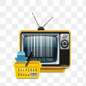 TV With Shopping Basket - Television Show Royalty-free Illustration PNG