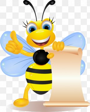 Moving Cartoon Bee - Bee Royalty-free Clip Art PNG