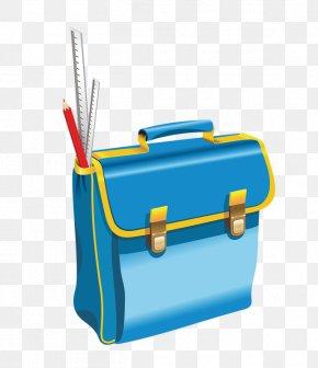 Blue Bag - Student School Education Illustration PNG