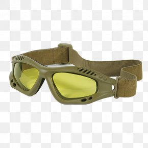 Yellow Particle - Goggles Glasses Clothing Accessories Eyewear Personal Protective Equipment PNG