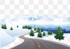 Snow Road - Royalty-free Snow Clip Art PNG