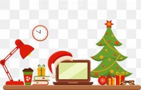 Vector Christmas Tables - Christmas Tree Santa Claus Clip Art PNG