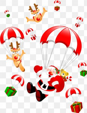 Hand-painted Christmas Ornaments With Presents - Santa Claus Christmas Clip Art PNG