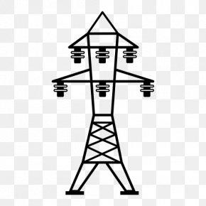 High Voltage - Transmission Tower Electricity Overhead Power Line Electric Power Transmission High Voltage PNG