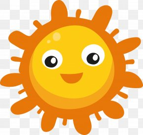 Cartoon Sun - Clip Art PNG