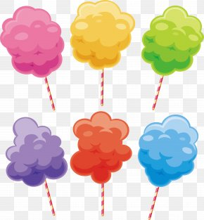 Colorful Cotton Candy - Colorful Cotton Candy Sugar PNG
