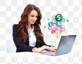 Laptop - Laptop Stock Photography Woman Business PNG