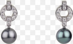 Diamond - Pearl Earring Colored Gold Carat Brilliant PNG