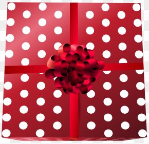 Gift Box Red Transparent Clip Art - Red Wine Polka Dot Placemat PNG