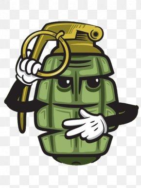 Hand-painted Cartoon Grenade - Bumper Sticker Wall Decal Grenade PNG