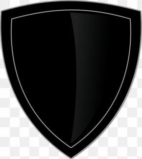 Black Shield - White Black M PNG